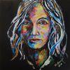 Acrylmalerei, Frauenportrait, Gesicht, Schönheit
