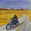Motorrad, Wilder westen, Biker, Malerei