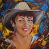 Acrylmalerei, Landschaft, Frauenportrait, Malerei