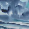 Atmosphäre, Meer, Bewegung, Aquarell