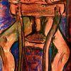 Stuhl, Auf wunsch, Malerei, Mann