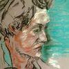 Denken, Skepsis, Pastellmalerei, Malerei