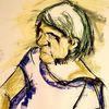 Hart, Flappe, Pastellmalerei, Malerei