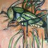Grille, Pastellmalerei, Finnpappe, Malerei