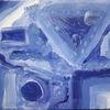 Blau, Farbenübergänge, Malerei, Abstrakt