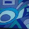 Blumen, Blau, Formen, Malerei