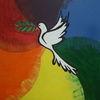 Frieden, Taube, Regenbogenfarben, Malerei