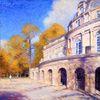 Altstadt, Ölmalerei, Malerei, Herbst