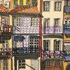 Portugal, Altstadt, Häuserfassade, Schatten