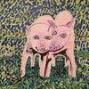 Zusammen, Schwein, Fröhlichkeit, Ferkel