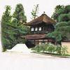 Malerei marcel heinze, Buddhismus, Tempel, Japan