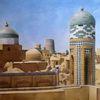 Moschee, Nordafrikanische stadt, Islam, Malerei marcel heinze