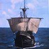 Schiff, Malerei marcel heinze, Marinemalerei, Santa maria