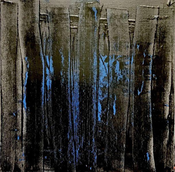 Schwarz, Durchdringend, Blau, Malerei, Wand