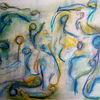 Bewegung, Verwoben, Malerei,