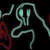 Bizarr, Malerei, Digitale kunst, Rot