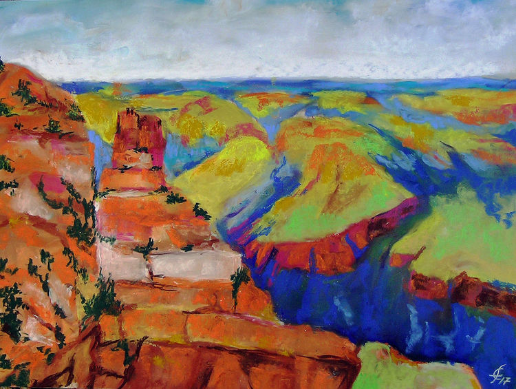 Grand canyon, Arizona, Usa, Hiking, Western art, Nationalpark