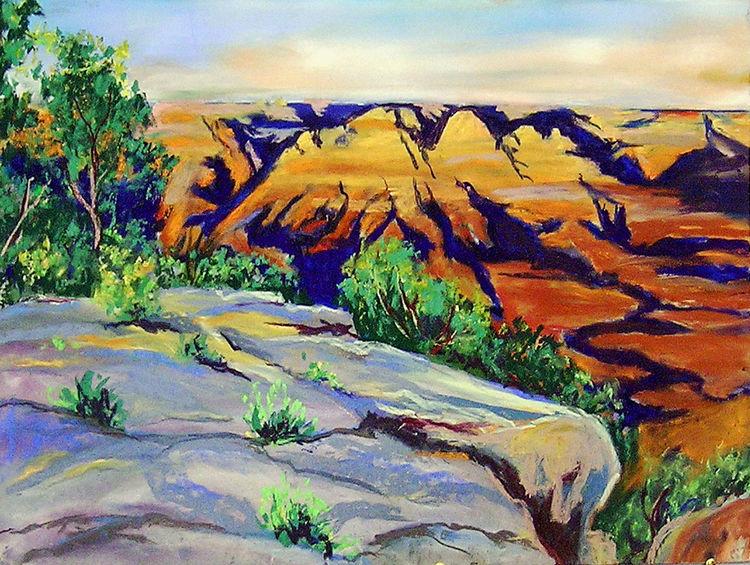 Usa, Felsen, Grand canyon, Nationalpark, Gemälde, Malen
