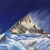 Pastellmalerei, Gasherbrum, Gebirgslandschaft, Karakorum