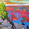 Pastellmalerei, Usa, Abendlicht, Arizona