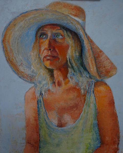 Dame mit hut, Portrait, Iryna, Malerei, Hut, Dame