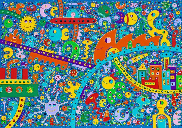Abstrakt, Bunt, Gemälde, Malerei, Hoffnung, Kinder