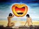 Frau, Surreal, Malerei, Stimmung