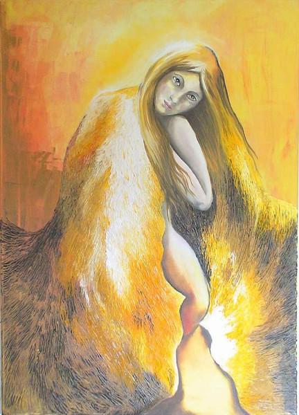 Malerei, Licht, Frau, Surreal