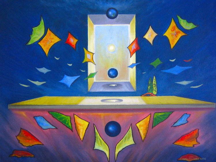 Symbolismus, Surrealistisch, Zeitgenössisch, Bunt, Abstrakt, Malerei