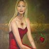 Portrait, Zeitgenössisch, Ölmalerei, Ornella muti