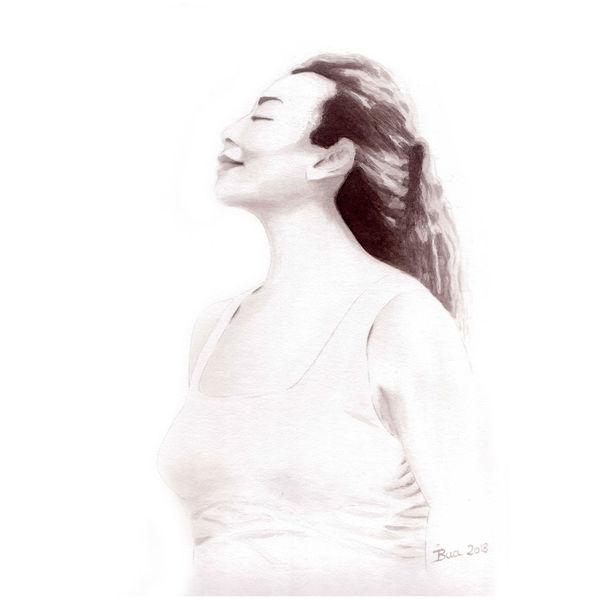 Portrait, Frau, Tusche, China, Zeichnungen