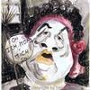 Portrait, Karikatur, Aquarell