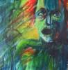 Portrait, Malerei, Verzweiflung, Wut