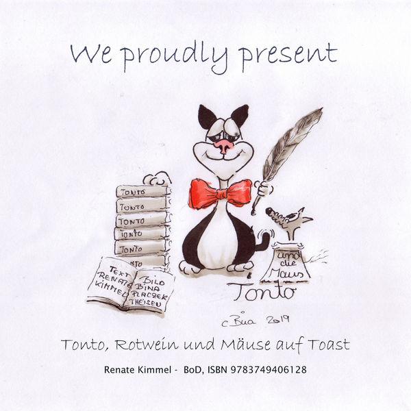 Geschichte, Druck, Illustration, Cartoon, Katze, Buch