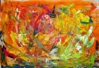 Action painting, Wärmen, Acrylmalerei, Leichtigkeit