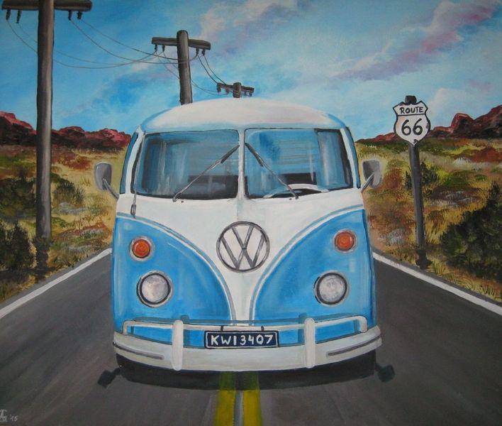 Vw, Kult, Bus, Bulli, Route 66, Reise