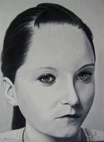 Mädchen, Portrait, Figural, Malerei