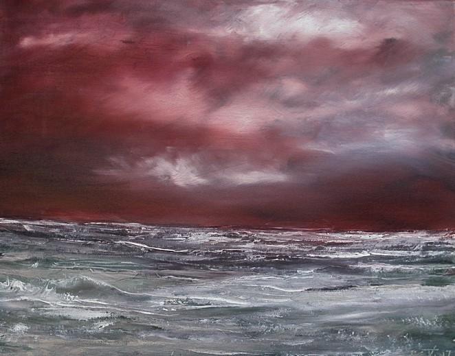 Abend, Wasser, Hebriden, Farben, Meer, Wolken