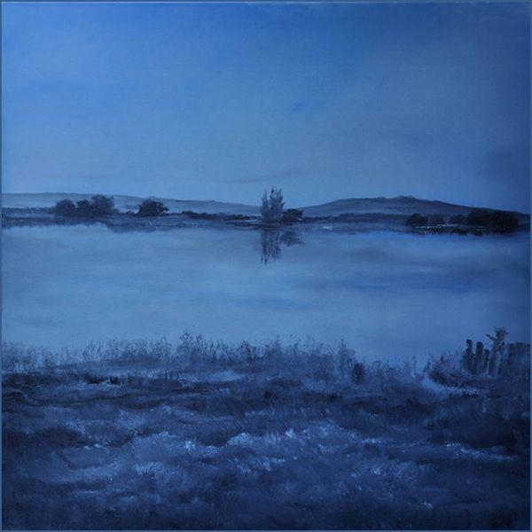Burgund, Fluss, Wasser, Ölmalerei, Frankreich, Malerei