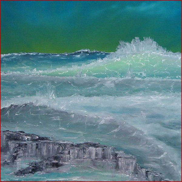 See, Wild, Brandung, Meer, Welle, Ölmalerei