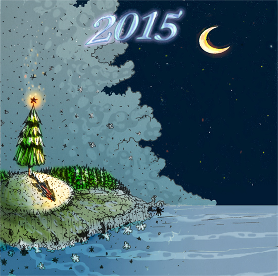 Winter, Feietage, 2015, Weihnachten, Silvester, Illustrationen
