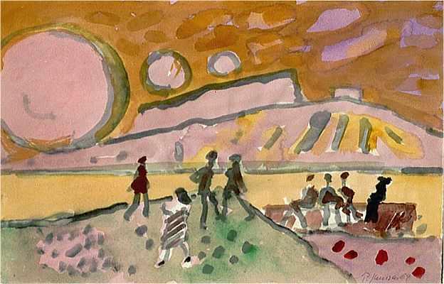 Expressionismus, Rosa, Landschaft, Holocaust, Malerei, Entartete kunst
