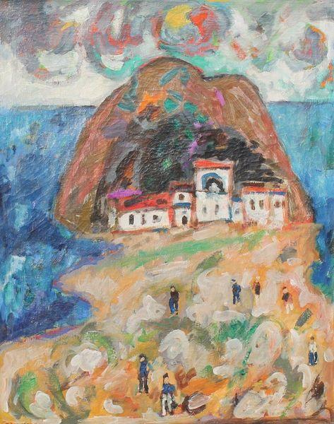 Expressionismus, Stadtansicht, Impressionismus, Gemälde, Italien, 1953