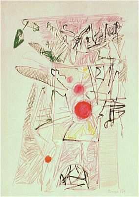 Impressionismus, Gemälde, Mutter ey, Wachszeichnung, Mediterrane landschaften, Abstrakt