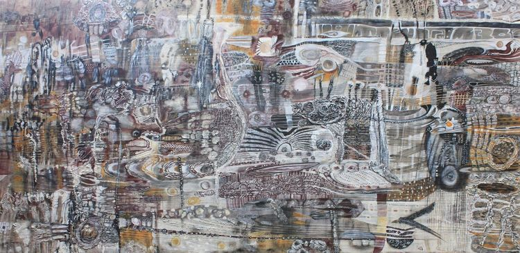 Holz, Traum, Abstrakt, Acrylmalerei, Farben, Malerei