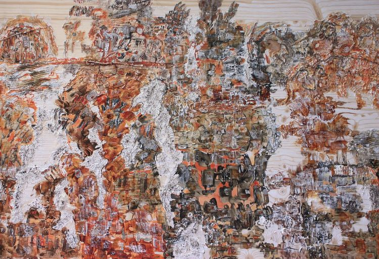 Holz, Traum, Surreal, Acrylmalerei, Abstrakt, Malerei