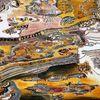 Farben, Traum, Holz, Acrylmalerei