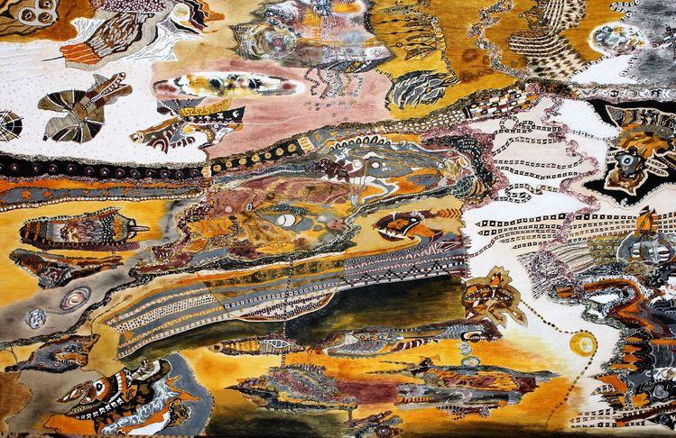 Farben, Holz, Traum, Acrylmalerei, Abstrakt, Malerei