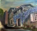 Oberirsen, Blauregen, Glas, Malerei