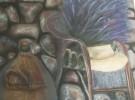 Malerei, Landschaft, Oberirsen, Glas